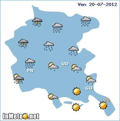 Temporali forti sul Friuli il 20 Luglio 2012