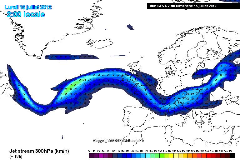 Rischio di fenomeni violenti sull'Europa, ecco il Jet Stream intenso sull'Europa dell'Est