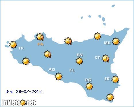 Meteo Catania 28-29-30 Luglio , Domenica il picco del caldo