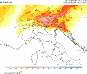 wrf K-index