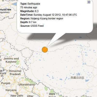 Terremoto in Cina 6.3