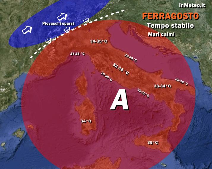 Previsioni meteo Ferragosto