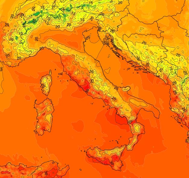 Lunedi Maestrale temperature fresche - www.meteonetwork.it