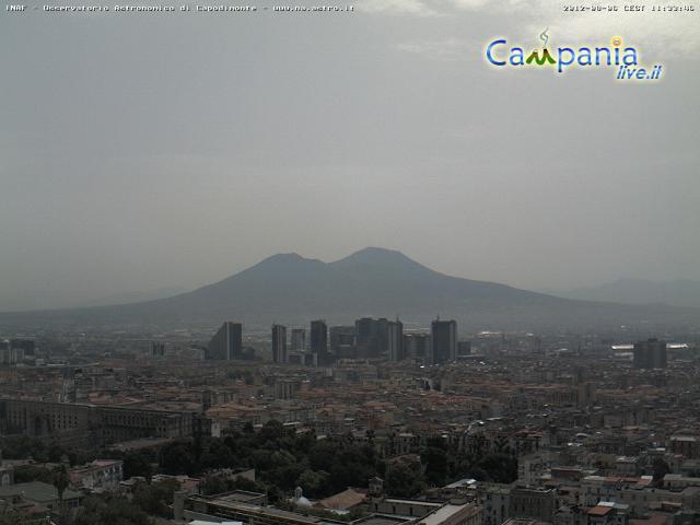 Napoli, cielo da... deserto! Campanialive