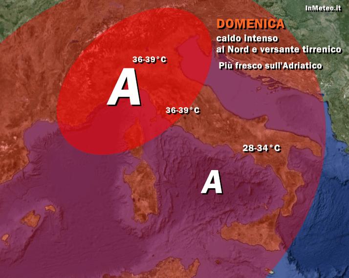 Week end afoso sull'Italia