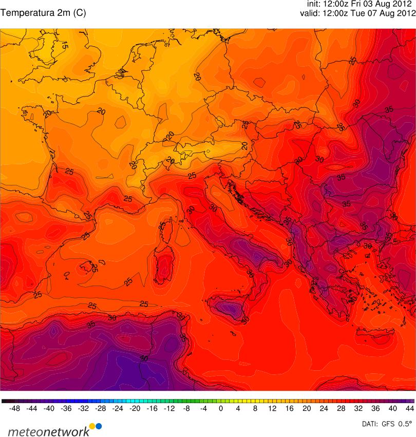 Super caldo: al Centro-Sud temperature fino e oltre i 40 gradi Lunedì e Martedì