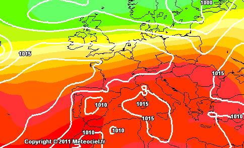 Gfs - Alta pressione stabile sul Centro-Sud