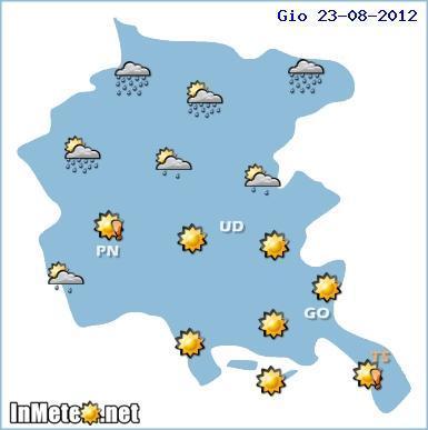 Meteo Trieste 21-22-23 Agosto 2012, previsioni Giovedi 23
