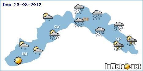 Meteo Genova 24-25-26 Agosto 2012, forte maltempo Domenica