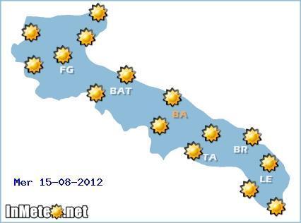Meteo Salento 13-14-15 Agosto 2012 , Focus per Ferragosto