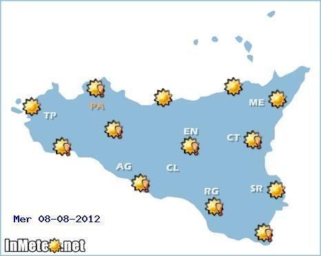 Meteo Catania 8-9-10 Agosto 2012