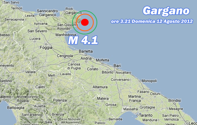 Terremoto Gargano 12 Agosto 2012
