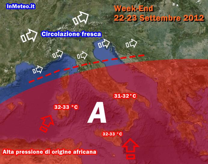 Alta pressione africana colpirà marginalmente l'Italia