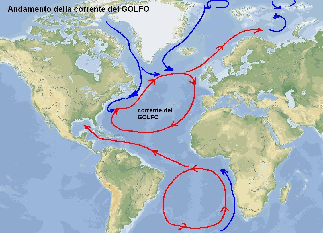 La corrente del Golfo, altro importante fattore del clima norvegese
