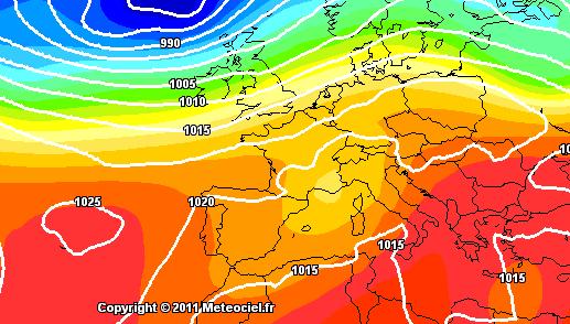 Previsioni Meteo : Goccia fresca dal Rodano e maltempo al Centro-Nord