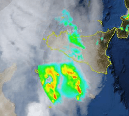 Radar Protezione Civile ore 16.30 2 Settembre 2012, attenzione al nucleo in arrivo sulla Sicilia