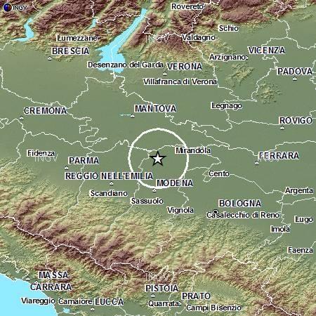 Terremoto Oggi Mercoledi 12 Settembre 2012 , scosse in Emilia