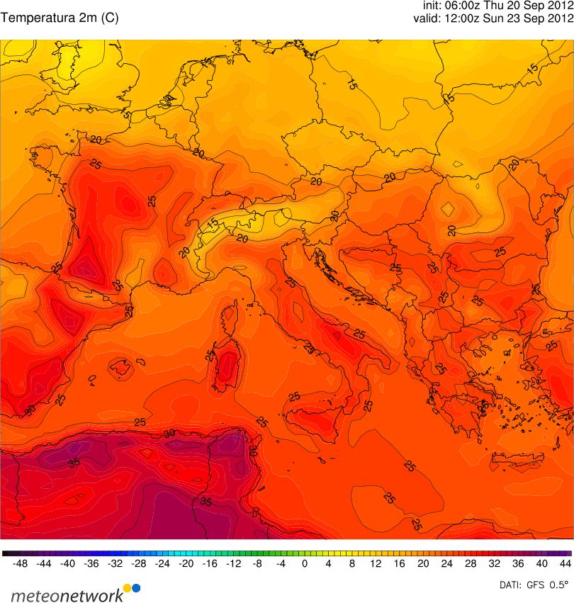Torna il caldo sull'Italia a partire dal week-end