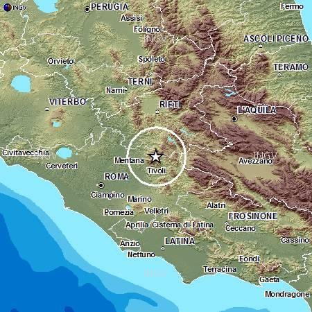 Terremoto oggi 10-11 Settembre 2012 , Sisma Lazio