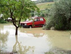 Alluvione Abruzzo, zona di Pineto