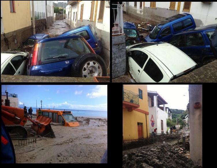 Alluvione Lipari: fango e distruzione fra le strade