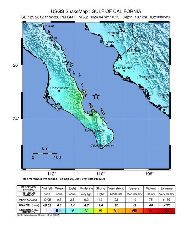 Terremoto Messico oggi 26 Settembre 2012