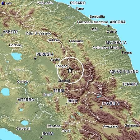 Terremoto oggi 17 settembre 2012 , scossa rilevata il Umbria nel pomeriggio