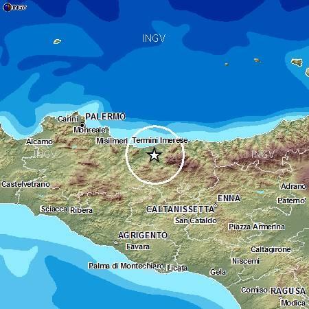 Terremoto Sicilia oggi 21 Settembre 2012 - una scossa di terremoto magnitudo 2.8 è stata avvertita distintamente in Sicilia poco fa.