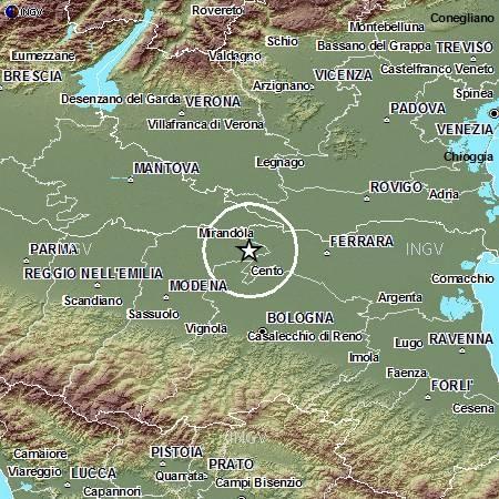 Terremoto Emilia Romagna oggi 26 Settembre 2012