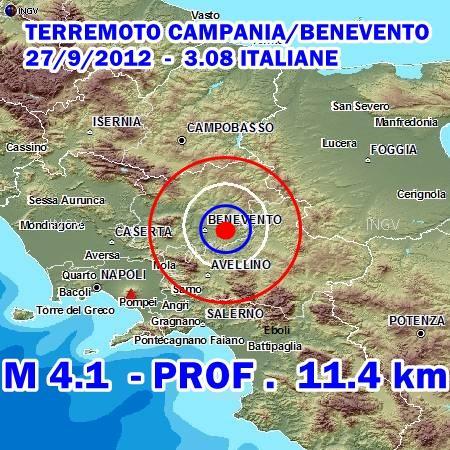 Terremoto Campania Benevento oggi