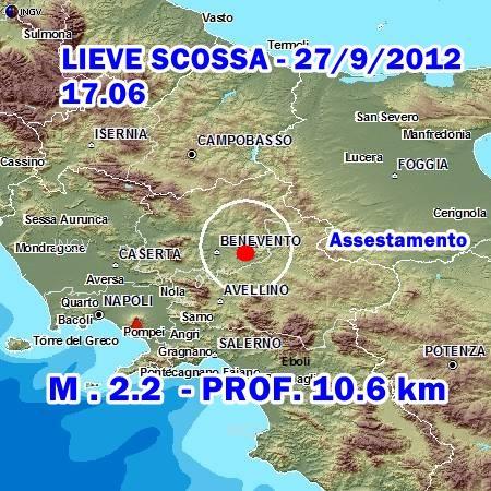 Terremoto Benevento scossa lieve di assestamento