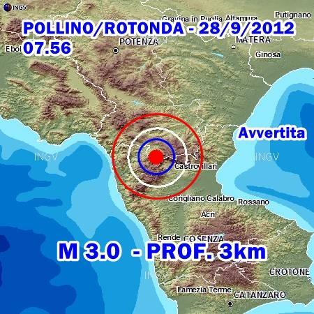 Terremoto Pollino Oggi