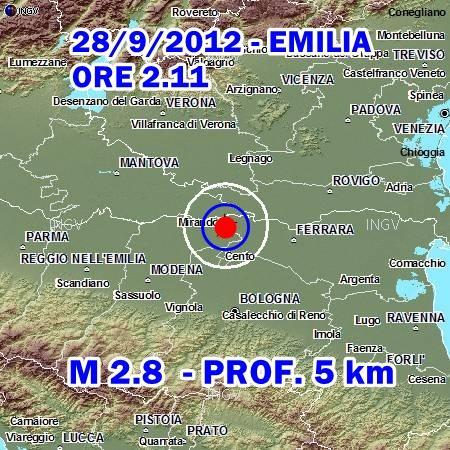 Terremoto Oggi 28 Settembre 2012