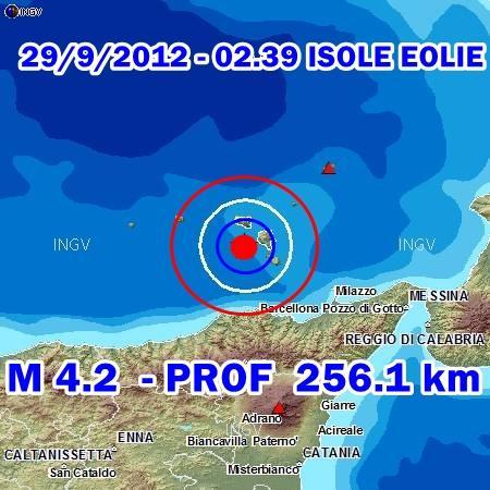 Terremoto Oggi Isole Eolie-Sicilia