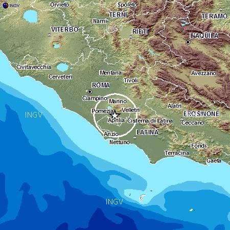 Terremoto Roma Colli Albani Oggi 8 Settembre 2012