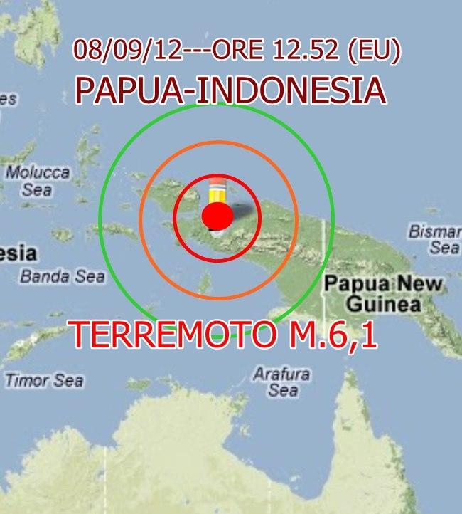 Terremoto 6.1 Papua (Indonesia)