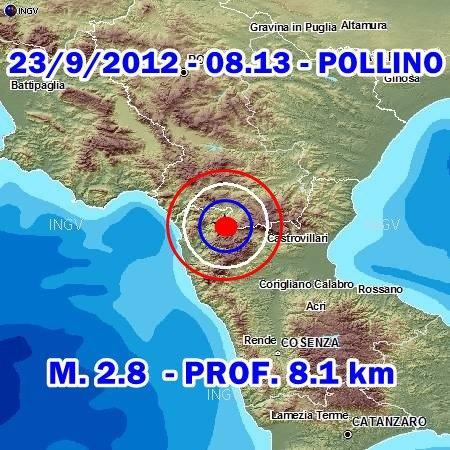 Terremoto Oggi 23 Settembre 2012: trema ancora il Pollino