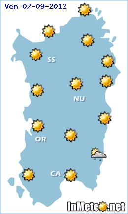 Meteo Sardegna 8-9-10 Settembre 2012