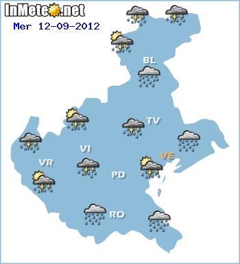 Forte peggioramento nelle prossime ore sul Veneto