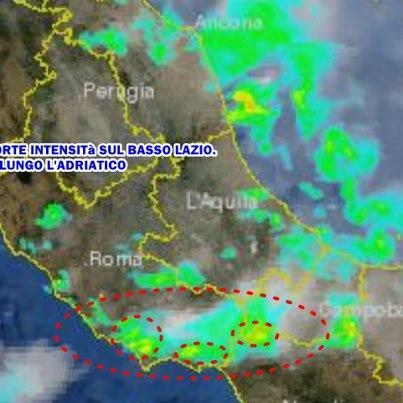 Forte maltempo nel lazio, alle porte di Roma nel pomeriggio del 19 Settembre 2012