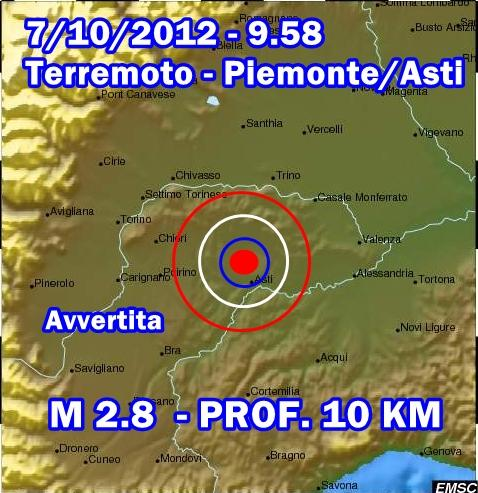 Terremoto Piemonte-Asti Oggi