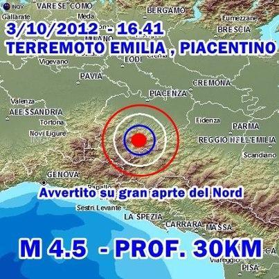 Terremoto Nord Italia-Emilia 3 Ottobre 2012