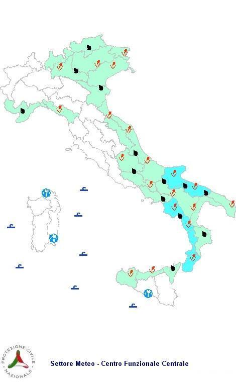 Allerta Meteo Protezione Civile Mercoledì 10 Ottobre 2012