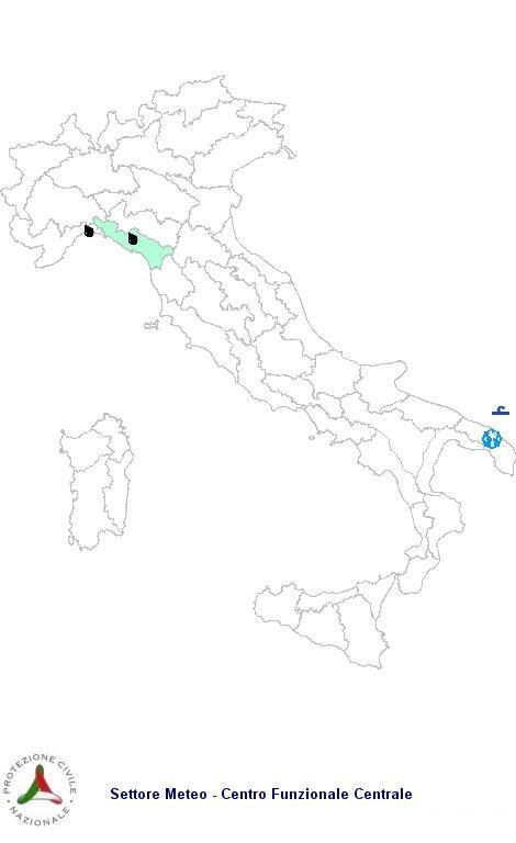 Allerta Meteo Protezione Civile Venerdì 5 Ottobre 2012