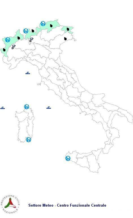 Bollettino Meteo Protezione Civile Domenica 7 Ottobre 2012