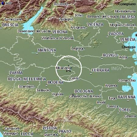 Terremoto Oggi 7 Ottobre 2012