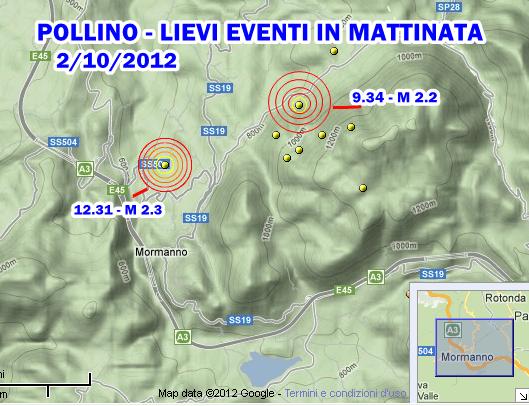 Terremoto Calabria-Pollino 2 Ottobre 2012