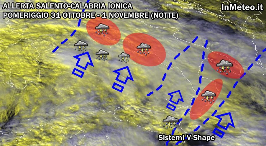 Puglia-Calabria Allerta Meteo Maltempo 31 Ottobre-1 Novembre 2012