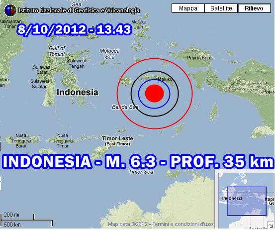 Terremoto Indonesia 8 Ottobre 2012
