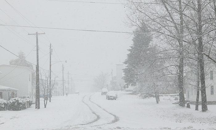 West Virginia, bufere di neve